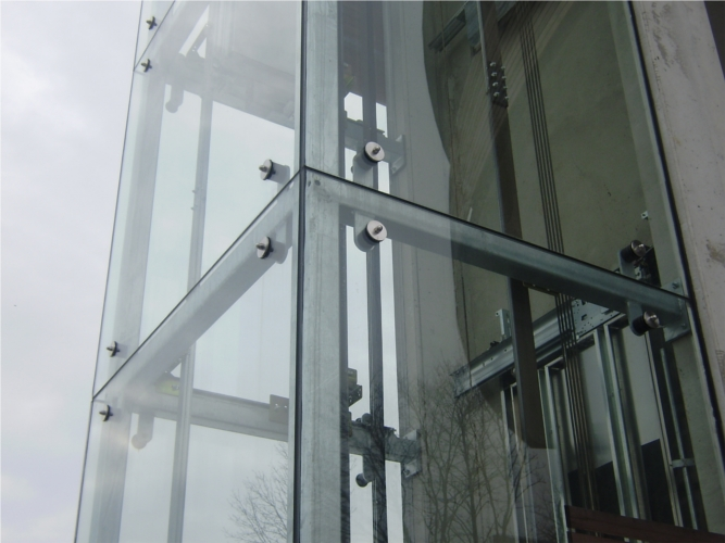 Stahlkonstruktion, Lifteinhausung