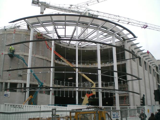Stahlkonstruktion Paradise Street Liverpool
