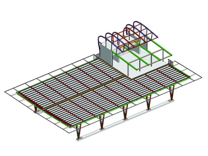 Stahlkonstruktion, Verbunddecke, Hubschrauberlandeplatz